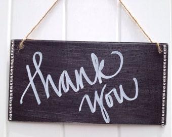 Thank you sign, wedding signage