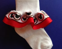 10% OFF...Mickey Ruffle Socks - Minnie Ruffle Socks - Girls Ruffle Socks - Girls Socks - Ruffle Socks - Minnie Socks - Mickey Socks