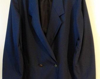 Vintage 90s Oversized Navy Boxy Blazer Jacket (Extra Large)