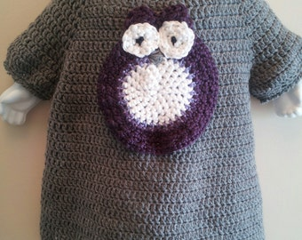 Baby Sweater Dress with Owl