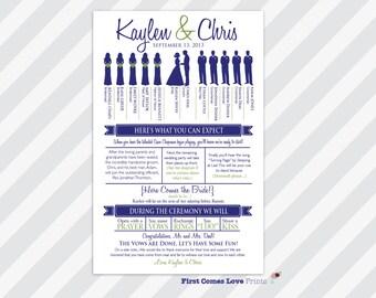 Printable Wedding Program The Kaylen With Fun