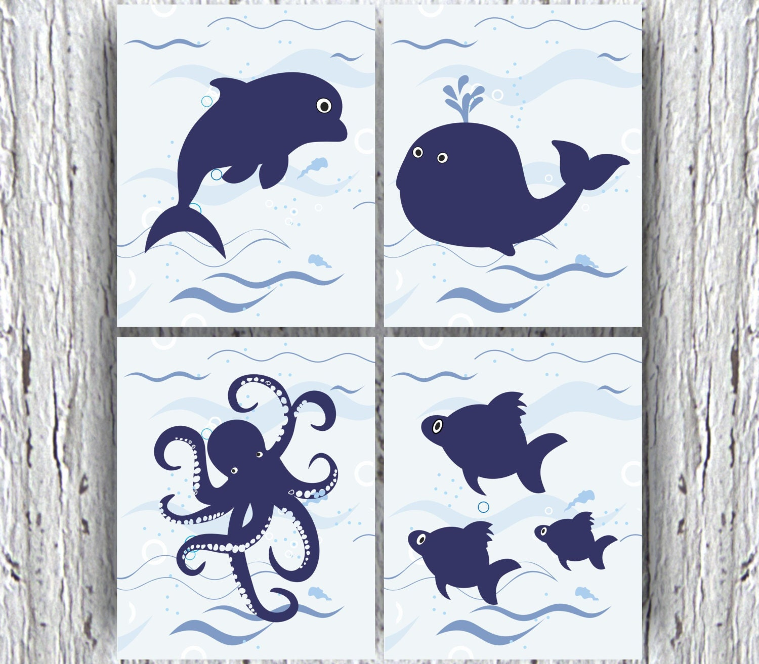 Ocean Friends Kids Bedroom Decor Nautical Nursery Decor