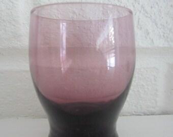 Vintage Mid Century Modern Purple Shot Glasses (3 pcs)