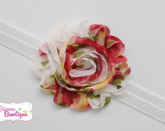Vintage shabby Headband baby girl headband floral headband
