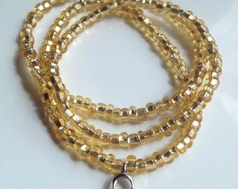 Childhood Cancer Awareness Gold Bracelet Set