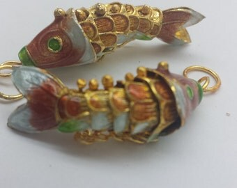 Red Cloisonne Fish