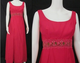 Vintage 60s Gown, 60s Vintage Gown,  60s Vintage Evening Gown