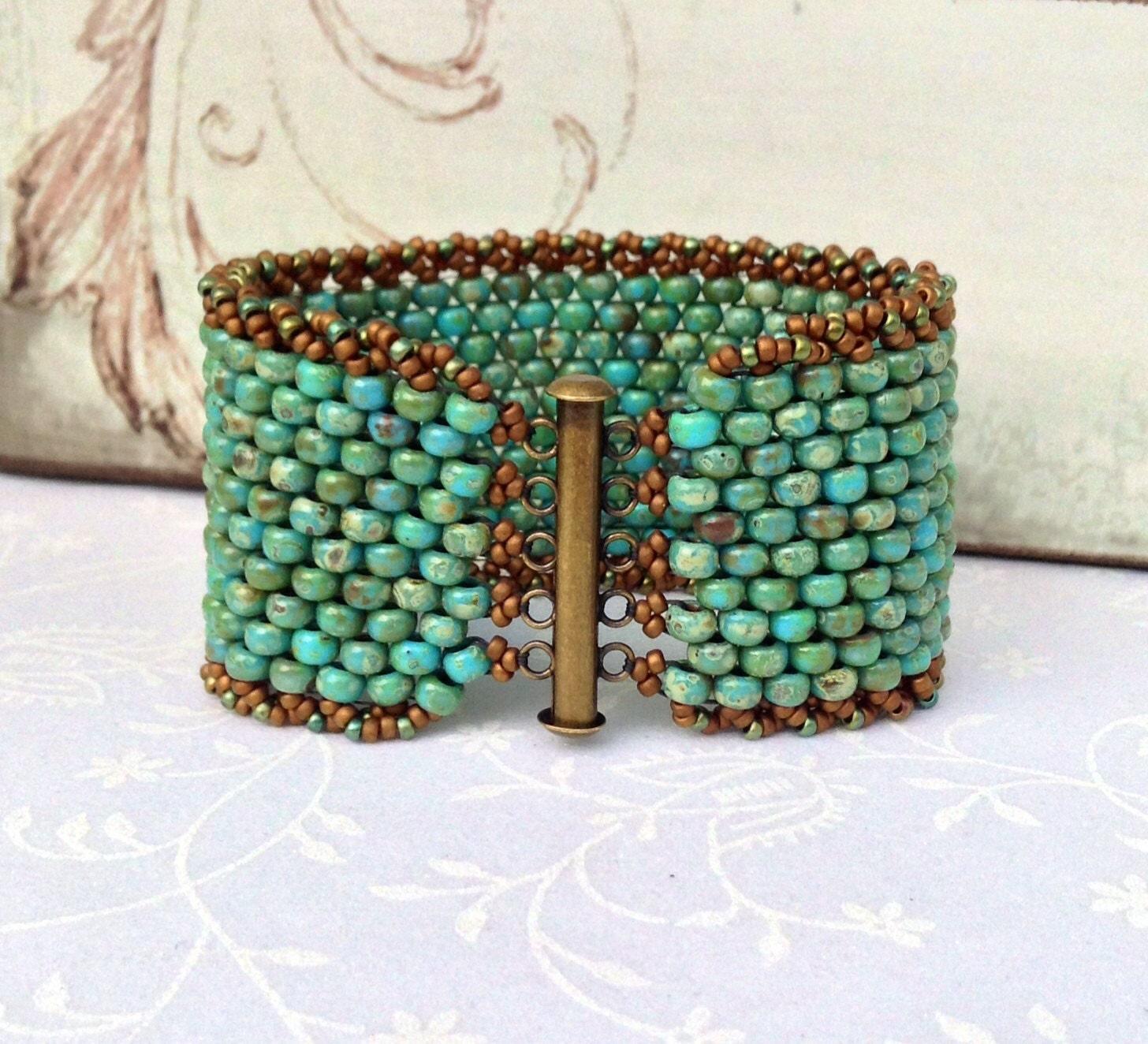 beaded cuff bracelet instructions