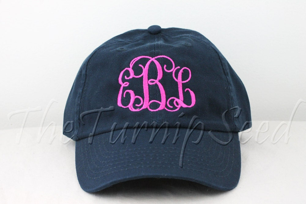 Ladies Monogram Baseball Cap Custom Color Hat And