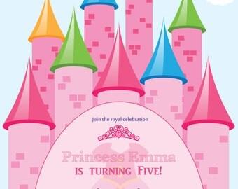 Birthday PRINCESS Invitation (DIgital File Print)