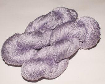 Downtown Merino/Silk  438 yard Hand-Dyed Fingering Yarn in Pale Lavender