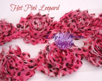 1 Yard - Shabby Flower Trim - Shabby Rose trim - Shabby Flower - Chiffon Flower - Leopard - Cheetah - Shabby Chic - Rose Trim - Wholesale