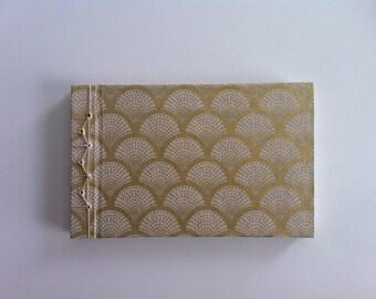 Stab Bound Gold Art Deco Journal // Notebook // Sketchbook // Scrapbook
