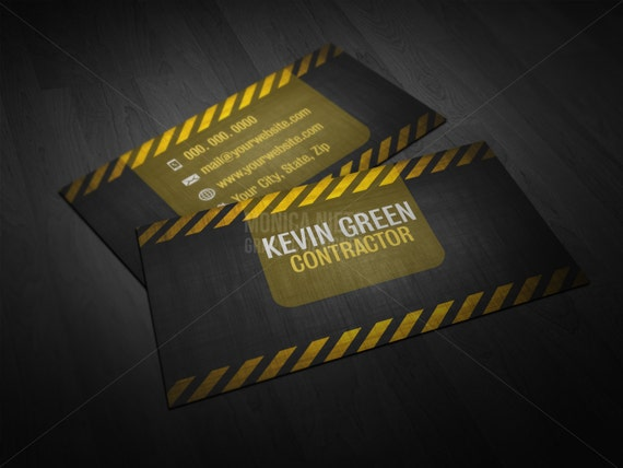 Printable custom general contractor business card builder manager il570xn colourmoves