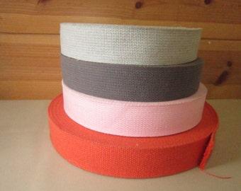 """2"""" Pink /Orange/Cotton webbing/Hard to find cotton webbing"""