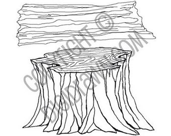 Instant Download Digi - Stump and Log Digital Stamps