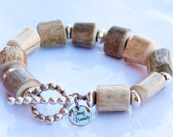 Northern Exposure Bracelet - antler and sterling silver