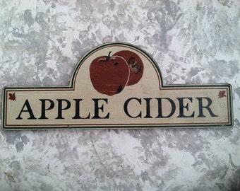 Vintage Wood Apple Cider Sign