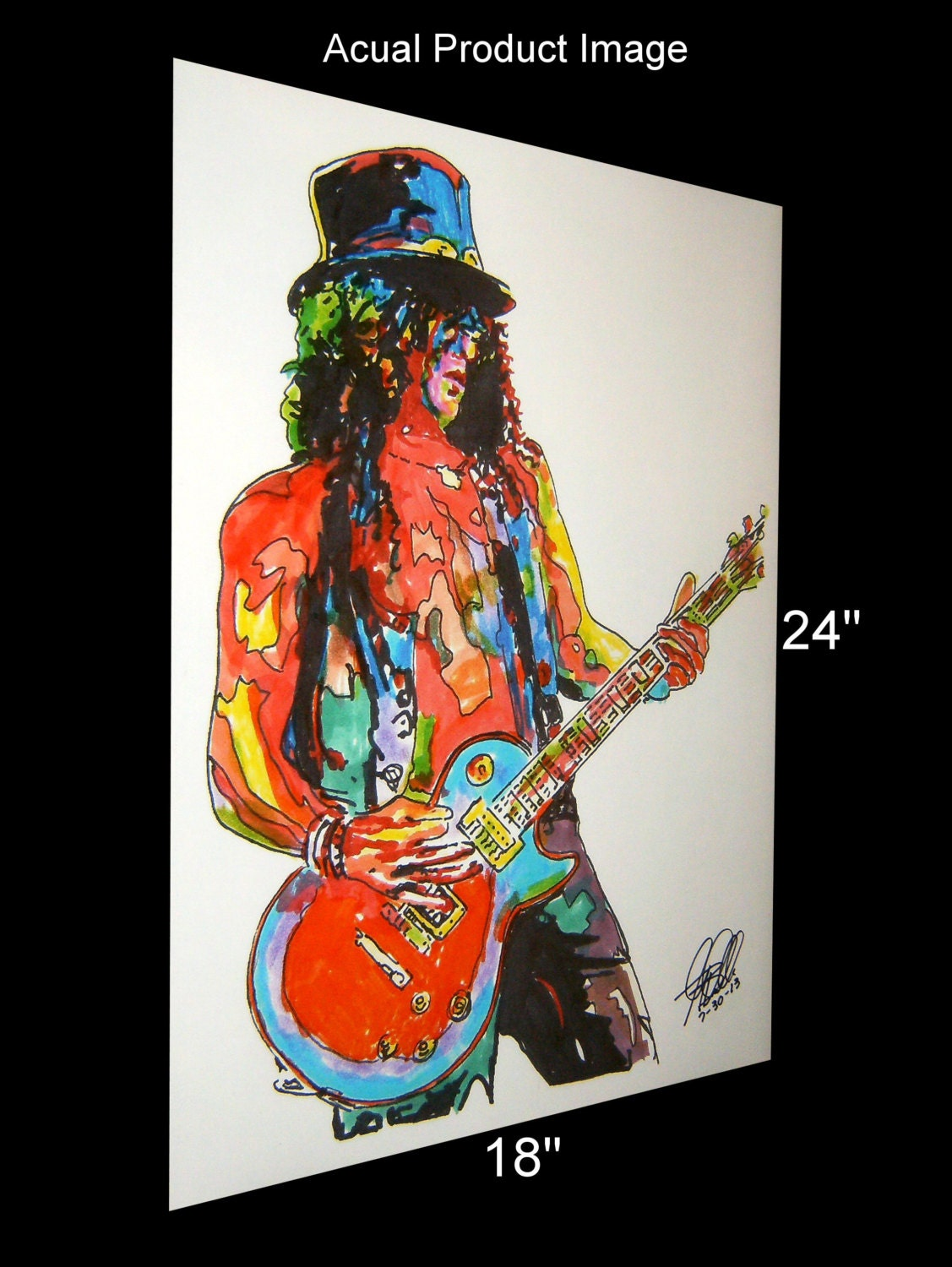 slash guns n 39 roses lead guitar guitarist hard rock by thesent. Black Bedroom Furniture Sets. Home Design Ideas