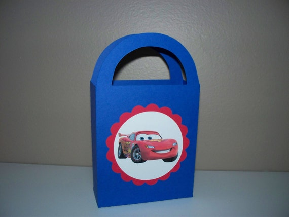10 Disney Cars Paper Favor Bags - Treat Bags - Boys Birthday Party