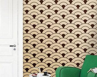 Removable vinyl self-adhesive modern Wallpaper wall sticker - Rising suns pattern C003