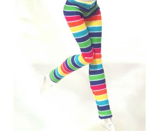 Tight pants/leggings/clothes for Monster high doll-  RAINBOW  - No: 608