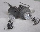 Earrings,silver tone earrings,gift for her,accessories for her,earrings handmade,earrings in vintage,earrings for women - BeaulieuCreations