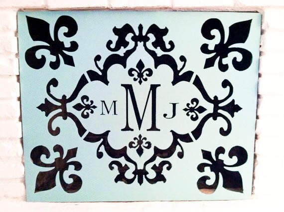 Personalized Monogram Initials Fireplace Screen By
