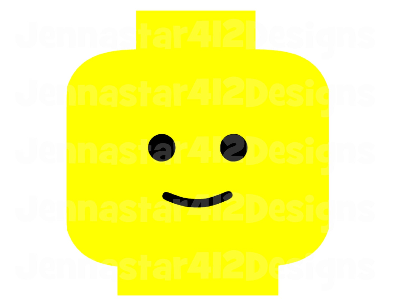 lego minifigure head template - lego man stencil the image kid has it