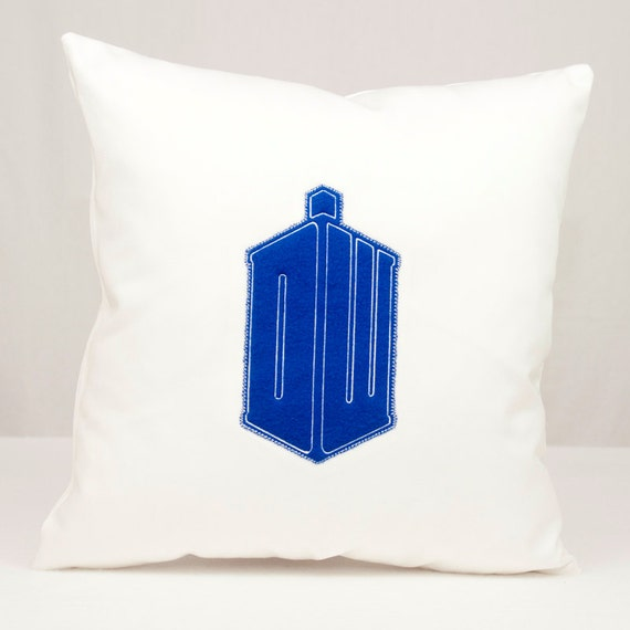 Doctor Who DW Tardis Throw Pillow 16x16