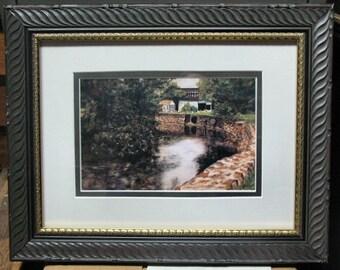 Framed Art Print Monocacy Creek Bethlehem PA