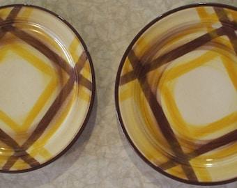 Circa 1950's Vernon Kilns Organdie Pattern Salad Plates (2)