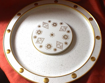 Gold and White Serving Tray