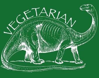 VEGETARIAN TSHIRT cool shirt funny t shirt vegan shirt dinosaur yoga kids shirt (also available on crewneck sweatshirts and hoodies) SM-5XL