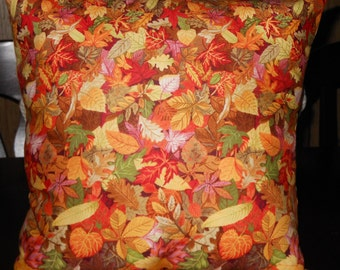 Autumn Leaves Pillow, 14 X 14 Decorative Pillow