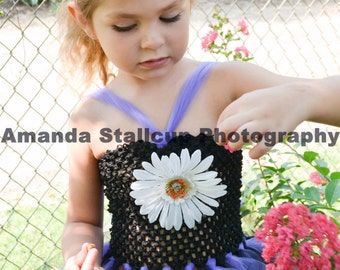 Tutu dress Black and purple baby girl size  6 months to 6 yrs. Fun for photos, dress up or birthday.