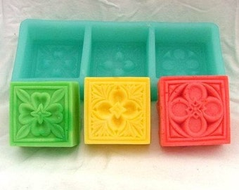 Square Flexible Silicone Mold Silicone Mould Candy Mold Chocolate Mold Soap Mold Polymer Clay Mold Resin Mold R0177