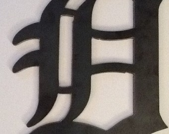 """Detroit Tigers Old English D hat logo- made of 1/8"""" steel"""