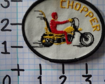 """Vintage """"Chopper"""" Motorcycle Patch (017)"""
