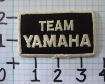 """Vintage """"Team Yamaha"""" Motorcycle Patch (001)"""