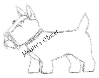 """Scottie Dog Finished Size About. 17"""" Long, Vintage Sewing Pattern, INSTANT DOWNLOAD PDF"""