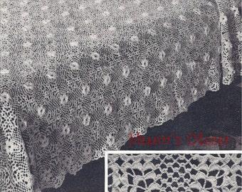 Beauty Rose Bedspread, Vintage Crochet Pattern, INSTANT DOWNLOAD PDF