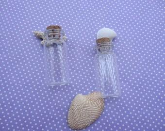 20pcs Mini glass bottles with corks 50x22mm--GF37