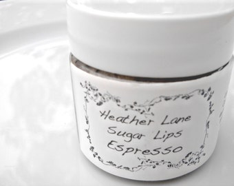 Sugar Lips Sugar Scrub Espresso, Vegan Lip Scrub, Coffee Lip Scrub, All Natural Lip Scrub
