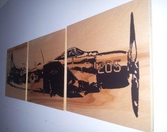 "16"" x 48""   Vintage WW2 TRANSPORTATION Art Airplane Wall art"