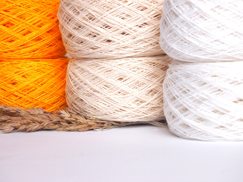 Balls Natural Linen Yarn High Quality Linen Yarn by LinenSpirit