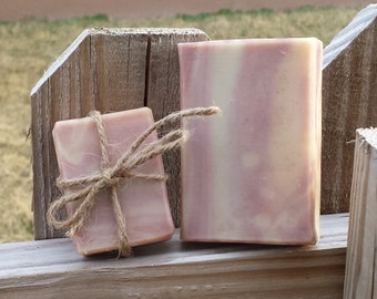 Handmade Cherry Almond Goat's Milk Soap