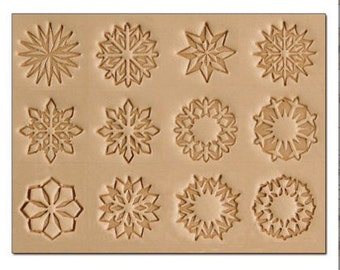 Geometric Designs Leather Stamp Set - 12 Tools & Handle