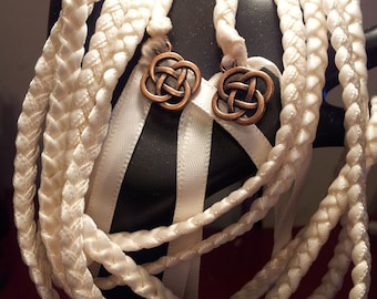 Ivory Celtic Knot Wedding Handfasting Cord ~ Celtic Handfasting ~ Wedding Ceremony ~ Vows ~ Celtic Wedding