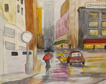 """This a print of my original watercolor painting titled """" After the Rain"""" It is printed on high quality art paper."""